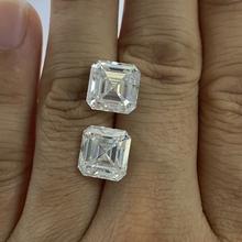 Grown moissanite GRA diament 9*9mm Asscher Cut VVS doskonały biały Moissanite kamień luźny moissanit diament 3 28 karat na pierścionek tanie tanio meisidian GDTC Diament D Kolor Grzywny GRAXXXXXX