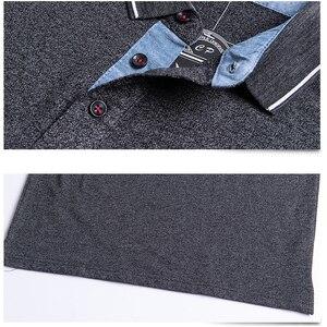 Image 3 - חדש 2020 גברים פולו חולצת כותנה סתיו חורף נוח Slim fit חולצה ארוך גברים פולו חולצות פנאי חולצות זכר 5XL בתוספת גודל