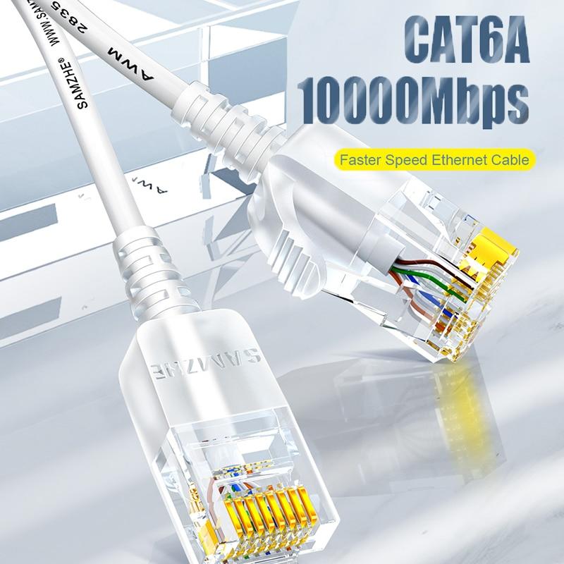 Cat6 a câble Ethernet câble de réseau de correction Ultrafine, pour RJ45 routeur ordinateur PS2 PS3 XBox réseau LAN cordons 0.5m 1m 1.5m 2m