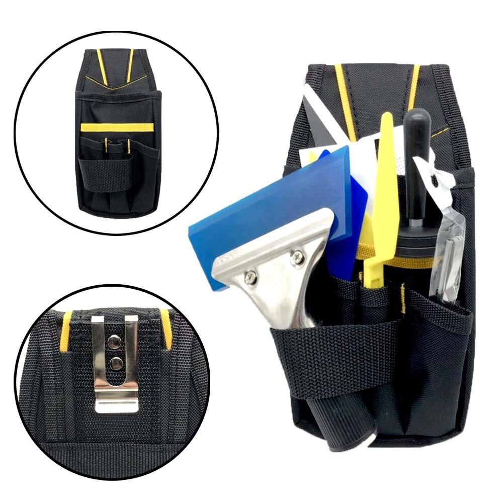 1 Pcs 2020 High Density Waterproof Oxford&PVC Car Wrap Tool Bag Window Tint Vinyl Wrapping Tools Squeegee Scraper Bag