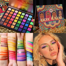 UCANBE Exotic Flavors Eyeshadow Palette 48 Color Pressed Glitter Shimmer Matte Green Eye Shadow Neon Metallic Makeup Cosmetics