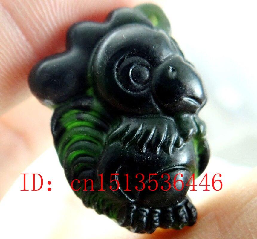 Colgante de signo del zodiaco chino Jade negro joyería accesorios de moda amuleto de la suerte hombre Regalos cuerda gratis
