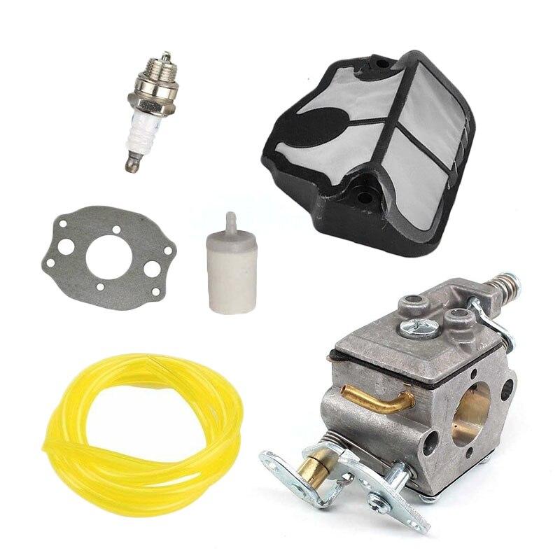 Carburetor Kit For Husqvarna 36 41 136 137 141 142 Chainsaw Zama C1Q-W29E Carb Air Filter Carburetor Ture Up Kit