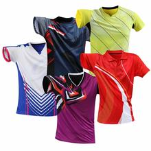 Male Female Cool Sportwear Jerseys Tee Shirt Tennis Men Women Clothes Table Tennis Girls PingPong Kit T shirt Badminton