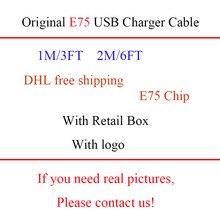 100 Cái/lốc Mới Hộp 1M/3ft 2M/6ft Ban Đầu Chất Lượng E75 Chip OD:3.0Mm Đồng Bộ Dữ Liệu Dây Cáp Sạc USB Cho Foxconn