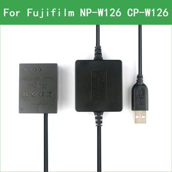 NP-W126 W126S Dummy Battery&DC Power Bank USB Cable for Fujifilm X-E2S X-H1 X-M1 X-T1 X-T2 X-T3 X-T10 X-T20 X-T30 X-T100 X-T200 x