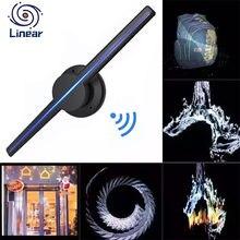 3d вентилятор светильник голограмма рекламный проектор Дисплей голограмма вентилятор лампа изображения 3D Дисплей реклама Wi-Fi логотип свети...