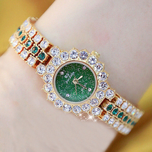 Reloj de lujo para mujer, reloj femenino de pulsera de acero inoxidable con diamantes de cristal, de marcas famosas, 2020