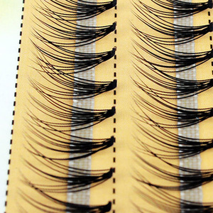 Image 1 - Новые 60 пряди для наращивания ресниц с индивидуальным кластером, длина 0,1 мм, толщина 6 14 мм