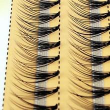 Yeni 60 demetleri bireysel küme göz Lashes aşılama kirpik uzantıları 0.1mm kalınlığında 6 14mm uzunluk