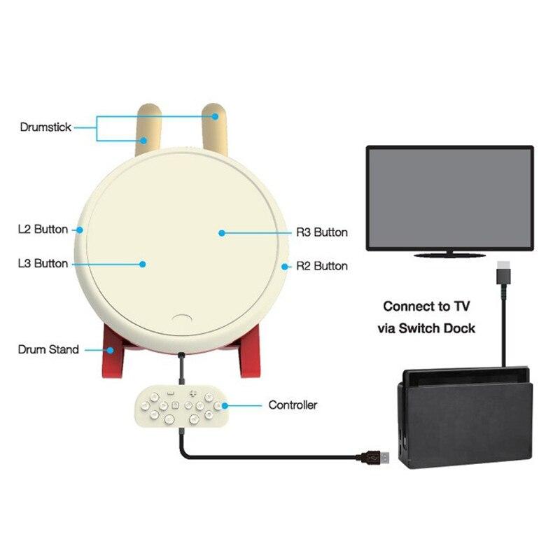 Pour Taiko tambour jeu vidéo baguettes de batterie poignée USB Kit pour Nintendo Switch n-switch NS contrôleur Console accessoires de jeu - 4