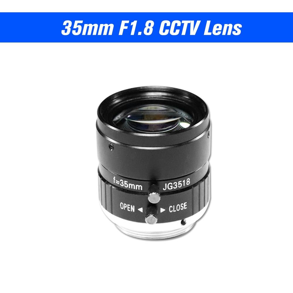 35mm Objektiv F1.8 CS-Mount 5,0 MegaPixel 17,5 Grad Objektiv Infrarot Nachtsicht Für CCTV Sicherheit Kamera Industrielle objektiv
