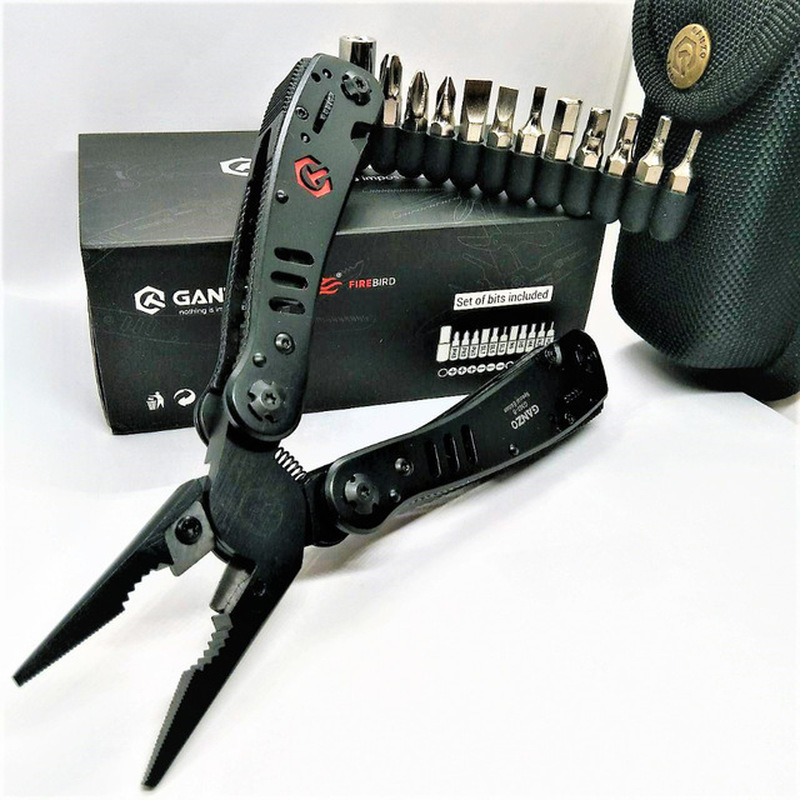 Ganzo 29 In 1 Black G302B G302H Stainless Steel  Folding Multi PLier Tools Protable Outdoors Survival Household Tool Sets