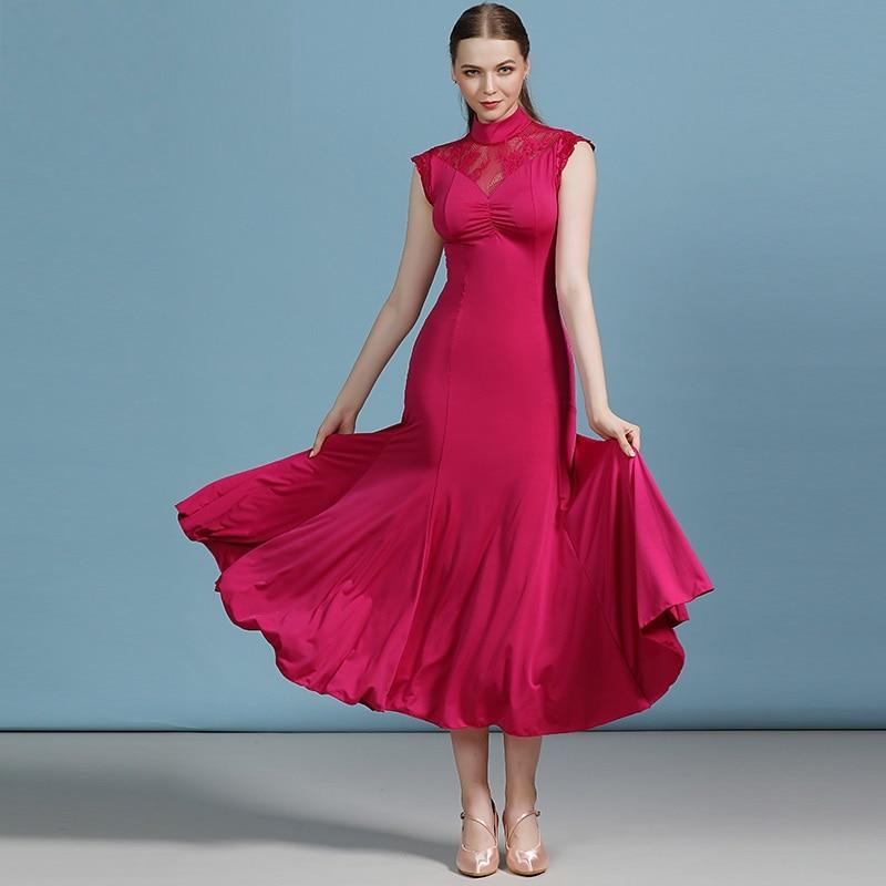 Women Dance Dress For Ballroom Dancing Dance Costume Cheap Ballroom Dress Red Tango Dresses Waltz Dance Costumes Flamenco Dress