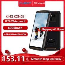 هاتف Cubot King Kong 3 IP68 مقاوم للماء مزود ببطارية كبيرة NFC 6000mAh يعمل بنظام الأندرويد 8.1 4GB + 64GB Type C FastCharge OctaCore KingKong 3الهواتف المحمولة