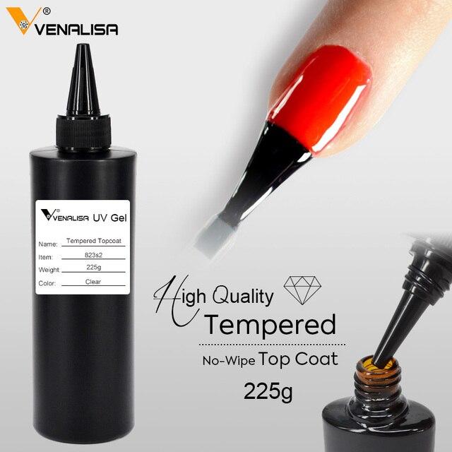 225g Venalisa Tempered Top Coat NoWipe Top Coat No Acid Base Coat Nail Salon Used Nail Gel Polish Soak Off UV LED Gel Top Coat