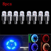 4pcs/8pcs Bike Car Motorcycle Wheel Tire Tyre Valve Cap Neon LED Flash Light Lamp Hot Bike Car Motorcycle Flash Light New 6