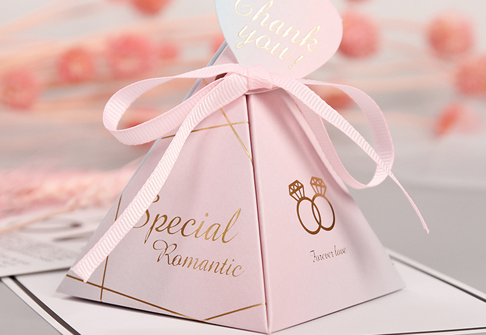 Triangular Pyramid Marble Candy Box Wedding Favors and Gifts Boxes Chocolate Box for Guests Giveaways Boxes Party Supplies-30