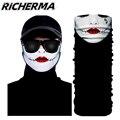 Зимняя Балаклава с рисунком черепа маска для лица Мотоцикл Хэллоуин шейный шарф лицевой щит ветрозащитный Байкер лыжный Снегоход мотокрос...