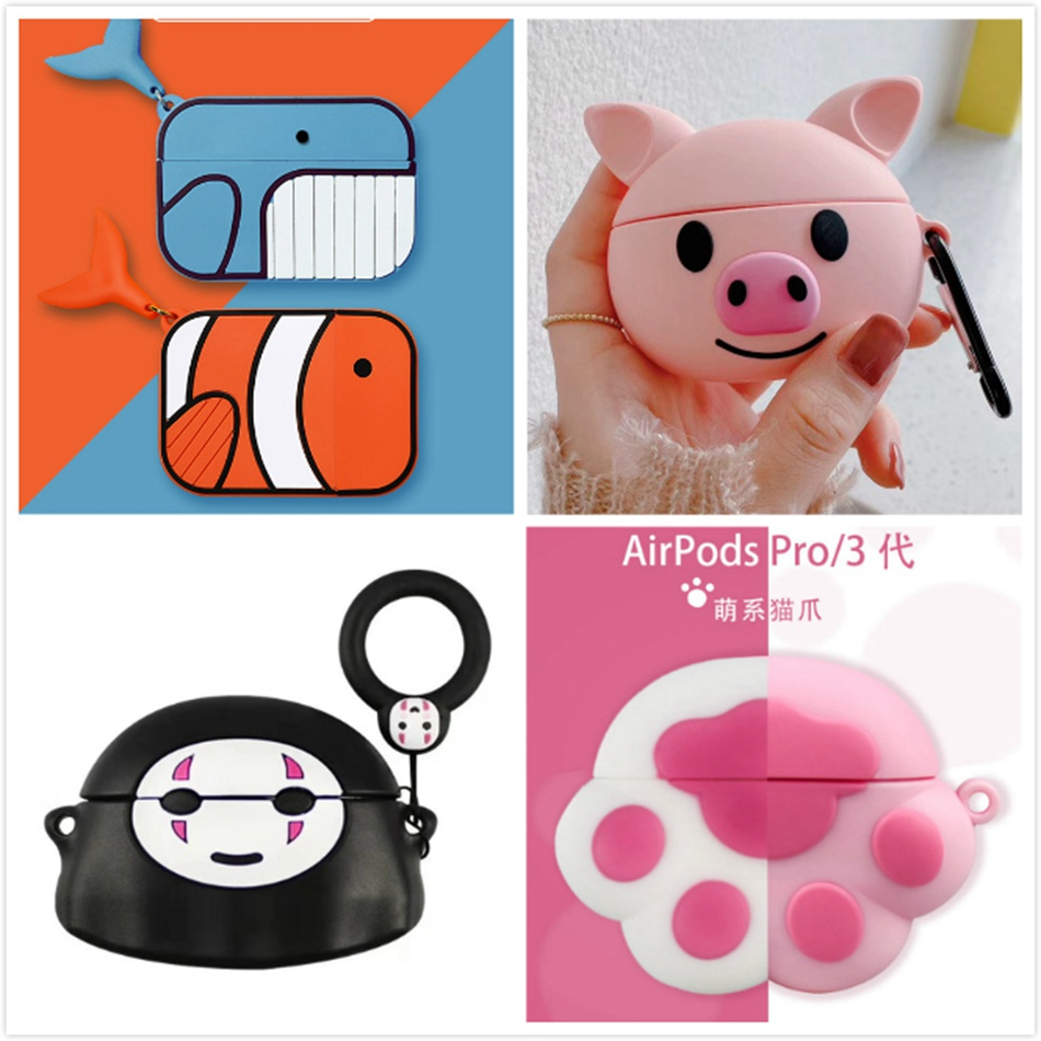Cartoon Silicon Cases for Airpods Pro