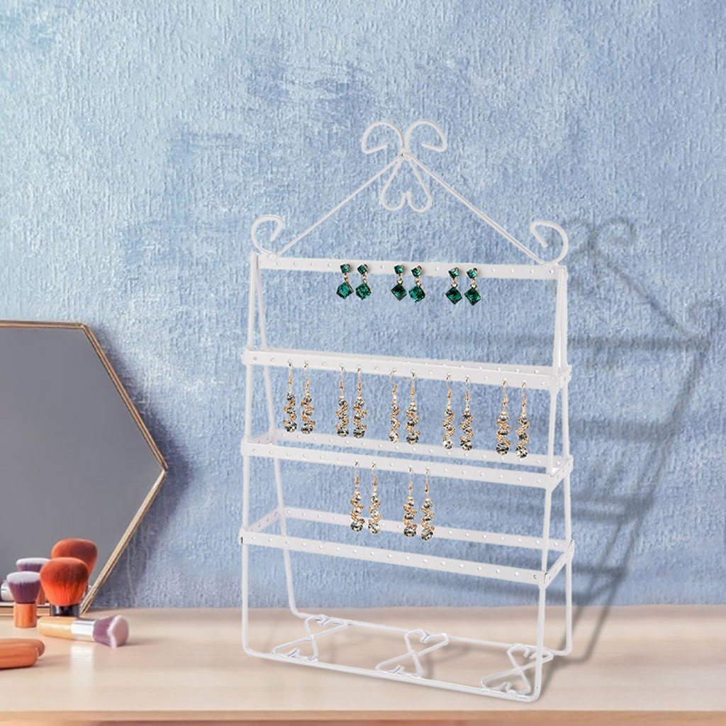 Openwork Jewelry Display Showing Stand Rack Foldable Stud Earrings Storage Rack Holder Packaging Organizer Dropshipping D3