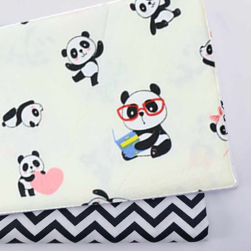 Kids Panda Ripple 100% Cotton print fabric DIY sewing uphostery craft for Baby&Children Quilting Sheets Dress Material