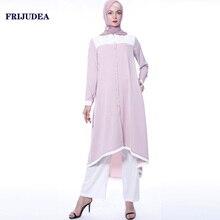 FRIJUDEA Muslim Big Size Women Abaya Set Clothing Dubai Caftan Female Robe Casual Islamic Abayas