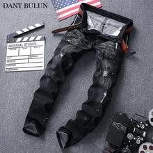 Mens Jeans Classic Straight Denim Jeans Men Plus Size 28-42 Long Pants Trousers Brand Biker Jean For Men Zipper Decoration airgracias brand jeans straight denim jeans men plus size 28 40 casual men long pants trousers brand biker jean 516