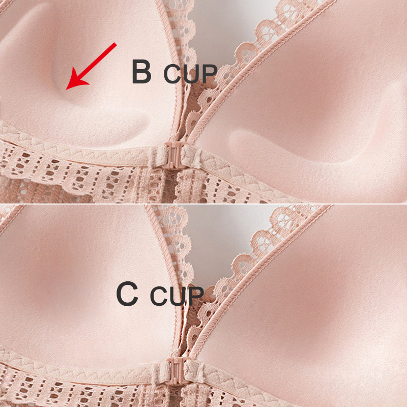 DERUILADY Sexy Lace Wireless Front Closure Bras For Women Sexy Lingerie Comfort Push Up Bra Adjusted Plus Size Backless Bralette 3