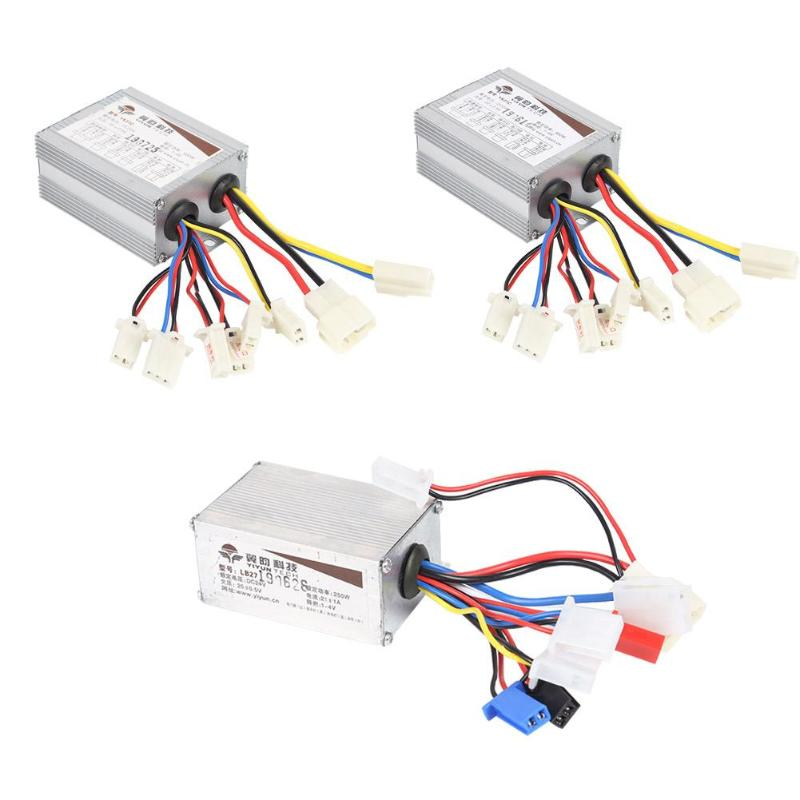 24V 36V 48V 250W 350W 500W DC Electric Bicycle Accessories Motor Brushed Controller Box for Electric Bicycle E-bike Scooter