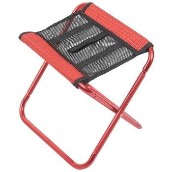 Odkryty składany krzesło wędkarskie ultralekki przenośny plecak składany Camping piknik krzesło wędkarskie z worek do przechowywania czerwony