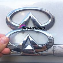 Серебристый Хром ABS 3D Infiniti задний бампер багажник ботинка знак эмблема, логотип, наклейка наклейки Авто Стайлинг автомобильные аксессуары