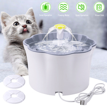 2.6L Automatic Cat Water Fountain LED Electric Mute Water Feeder USB Dog Pet Drinker Bowl Pet Drinking Dispenser for Cat Dog