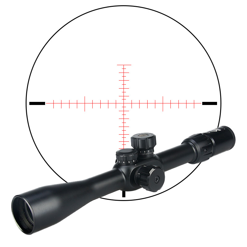 Quality guarantee tactical side focus scope 6-24x42 SFIRF rifle scope red/green mil dot reticle hunting HK1-0282