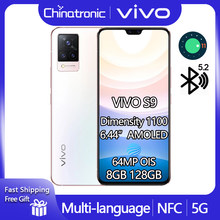 Original vivo s9 8gb 128gb 5g dimensão do telefone móvel 1100 android 11 6.44