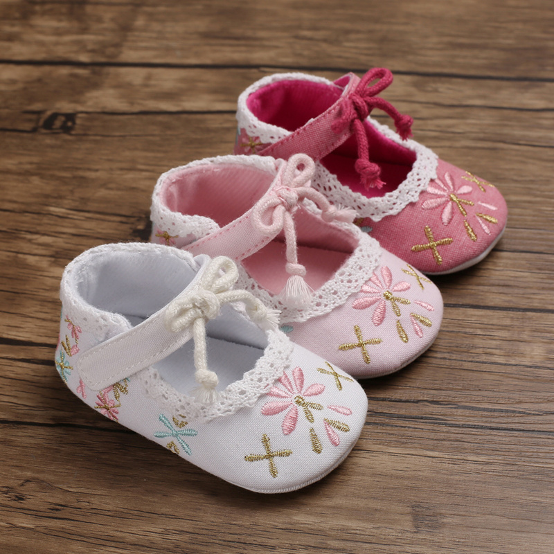 Newborn Shoes Baby Girl Infant  Cotton Fabric Selling Cheap Cotton Fabric 0-2 Years Girl Shoes  First Walkers Toddler Girl