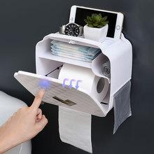 GUNOT di Plastica Scatola Del Tessuto Igienica Impermeabile Supporto Di Carta Portatile Per Wc Bagno di Casa Scatola di Immagazzinaggio Accessori Per il Bagno