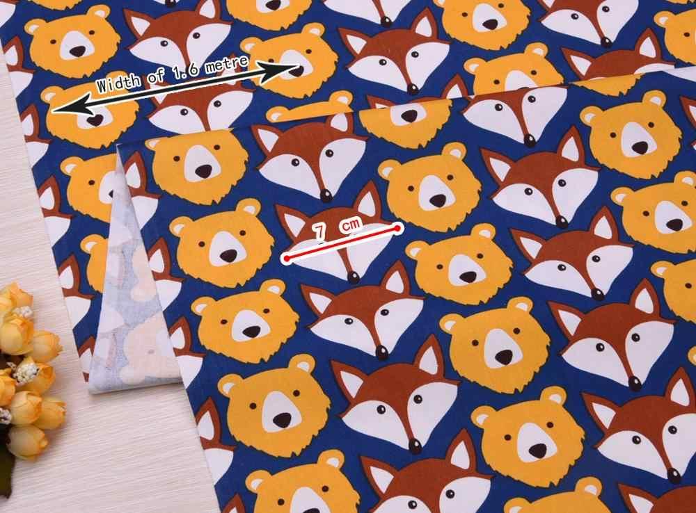 หมี Fox เด็กการ์ตูนผ้าฝ้ายพิมพ์ผ้า DIY เย็บผ้า uphostery หัตถกรรมสำหรับทารก & เด็ก Quilting แผ่นชุดวัสดุ Tissus