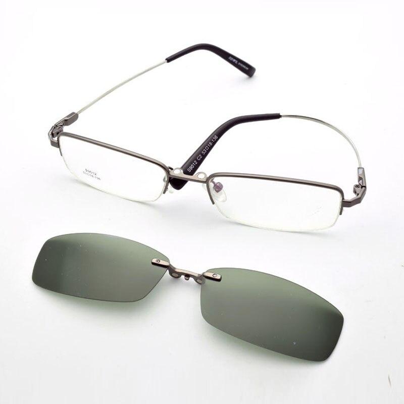 Petites lunettes doux jambe aimant polarisé lunettes de soleil ensemble miroir petit cadre visage étroit mince visage myope optique Prescription lentille