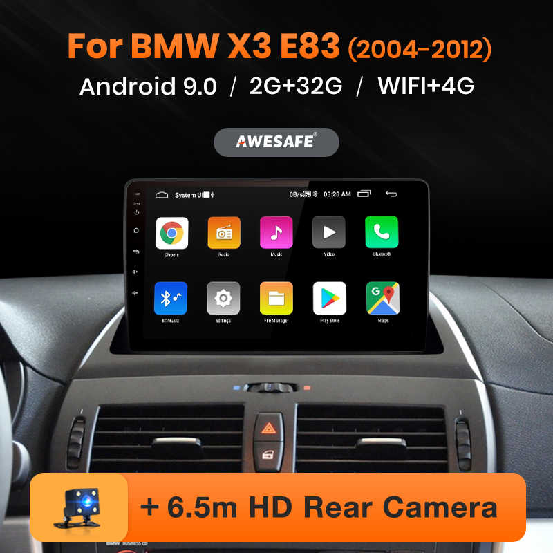 AWESAFE PX9 para BMW X3 E83 2004 - 2012 auto Radio Multimedia reproductor de video GPS No 2 din Android 9,0 2GB + 32GB