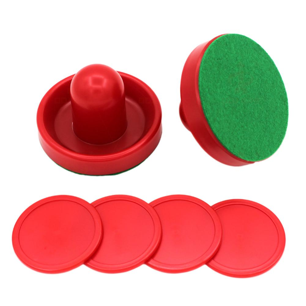 Air Hockey Replacement Pucks And Pusher Set Air Hockey Plastic Accessories For Game Tables