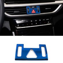 Lsrtw2017 Stainless Steel Car Dashboard Avoid Flash Light Button Frame Trims for Kia K3 Cerato 2019 2020 2021 Forte Accessories