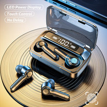 Bezprzewodowy 5.0 słuchawki sterowanie dotykowe sport wodoodporny Bluetooth słuchawka hi-fi 9D bas Stereo słuchawki zestaw słuchawkowy z mikrofonem