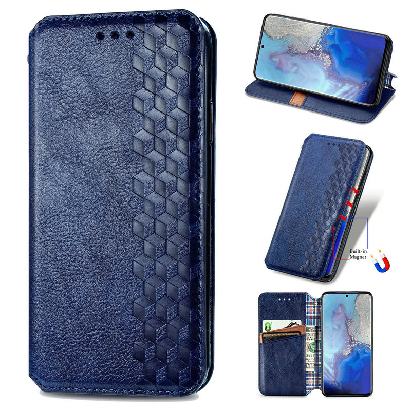 Slim Magnetic Leather Cover Business Stand Flip Wallet Case For Samsung S9 S10 S20 Plus S20 Ultra Samsung Note 20 Ultra/Pro image
