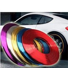 Tiras decorativas de la rueda del chapado del coche línea anti rasguño resistente a los arañazos banda de protección anti colisión anillo CC