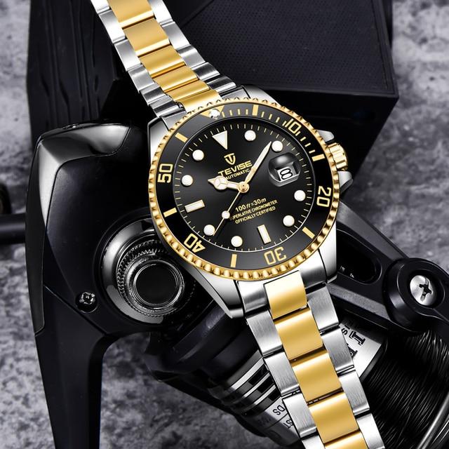TEVISE Elite Ghost Men Mechanical/Quartz Luminous Business Wristwatches 3