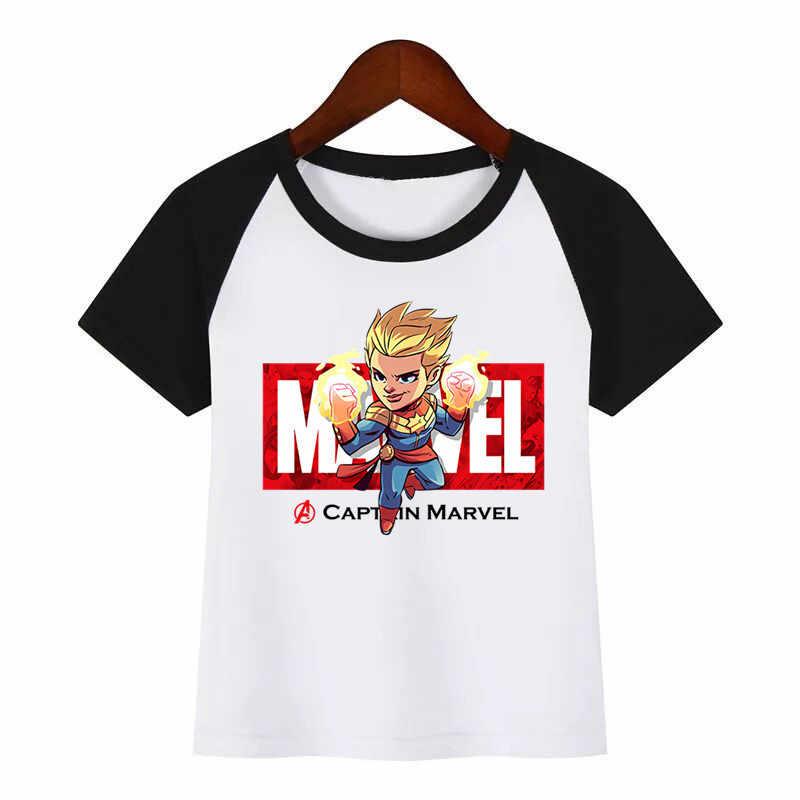 בני בנות מארוול נוקמי איש ברזל/קפטן אמריקה/ספיידרמן/האלק מצחיק חולצה ילדים Cartoon חולצות ילדי חולצת טי תינוק בגדים