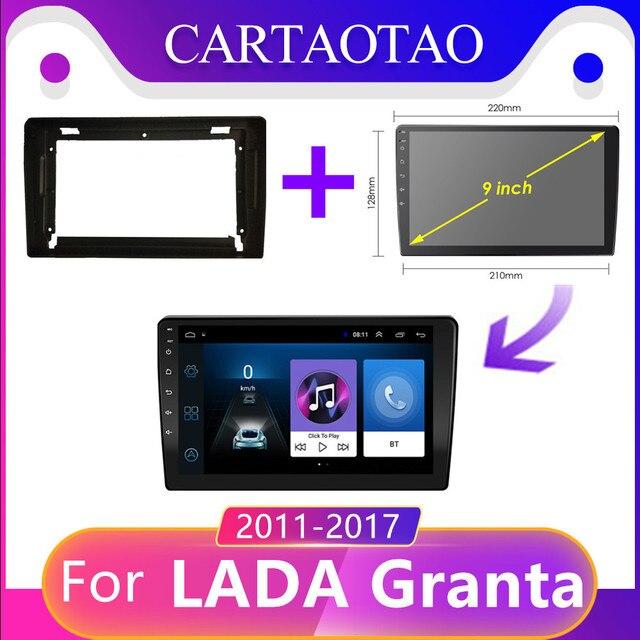 CARTAOTAO 2din עבור לאדה ВАЗ Granta אנדרואיד 8.1 ספורט צלב 2011 2018 רכב רדיו מולטימדיה וידאו נגן ניווט gps RAM 2G DIN