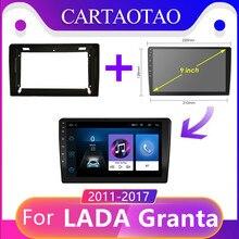 Car110 tao 2din, rádio automotivo para lada voz granta android 8.1 esporte cruz 2011 2018 rádio multimídia player de vídeo navegação gps ram 2g din
