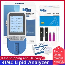 4in1 Lipid Analyzer (TC) Total cholesterol  (HDL)High density lipoprotein cholesterol  (TG)Triglyceride TC/HDL Cholesterol Meter